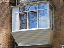 фото после ремонта балкона снаружи в сталинке