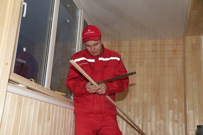 обшивка балкона в брежневке фото СК Комфорт