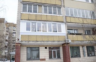 Балкон под ключ в брежневке. цена на ремонт 35726 грн - ск к.