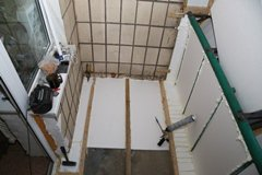 пол на балкон в брежневке фото