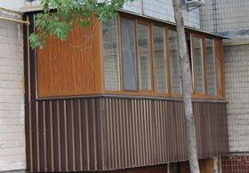 Наружная обшивка балкона профнастилом