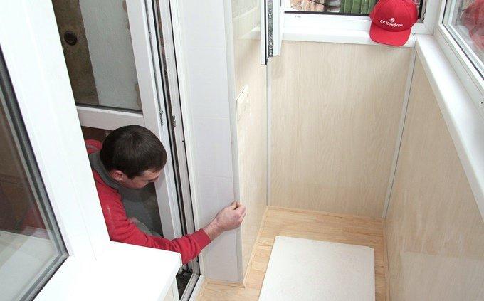 Обшивка балкона пластиковой (пвх) вагонкой. внутренняя отдел.