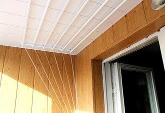 Обшивка балкона шовной вагонкой