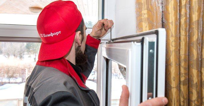 Отрегулировать пластиковые окна Киев, фото СК Комфорт Оболонь