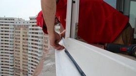 Утепление под отливом пластикового окна, фото Дарница