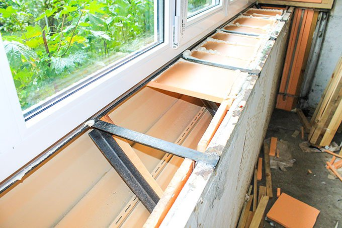 Вынос балкона и лоджии по подоконнику фото ск комфорт
